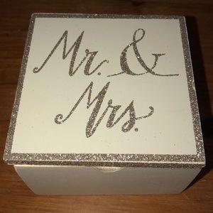 """Mr. & Mrs."" Jewelry Box"